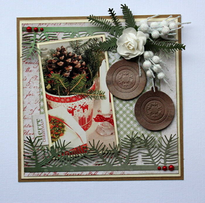 6002-0769/Joy! Crafts/ジョイ・クラフツ/ダイ(抜型)/Pine branches and Holly もみの木 モミの木 樅の木 小枝 クリスマス ツリー