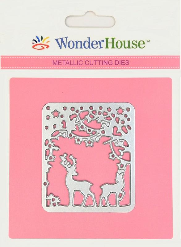 295/WonderHouse/ワンダーハウス/ダイ(抜型)/鹿 トナカイ 森 ランタン