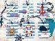 6002-0418/Joy! Crafts/ジョイ・クラフツ/ダイ(抜型)/Seashore 海岸 舵 イカリ 錨 浮き輪 マリン