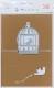 W71001/WonderHouse/ワンダーハウス/ダイ(抜型)/ポップアップカード/2つ折り立体カード 鳥カゴ イワミ*カイ
