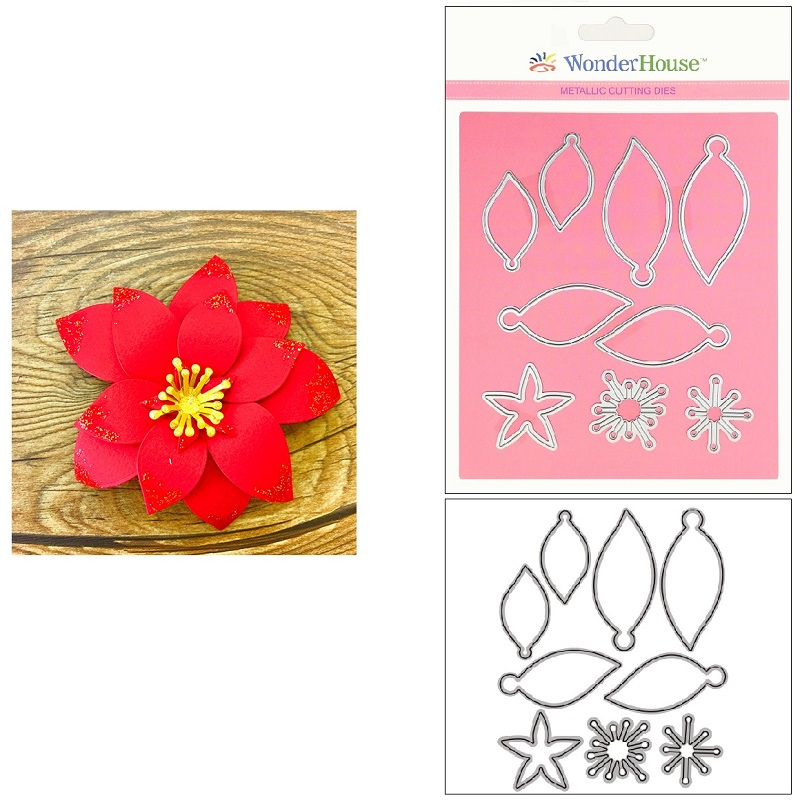330/WonderHouse/ワンダーハウス/ダイ(抜型)/花 Flower ポインセチア
