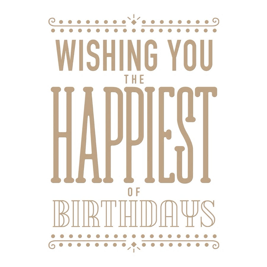 【GLP-073】グリマープレート/Wishing you the Happiest of  Birthday  お誕生日おめでとう ※こちらは型抜きではありません