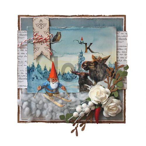 【6002-1367】/ジョイ・クラフツ/ダイ(抜型)/Gnome on skies  小人 と スキー