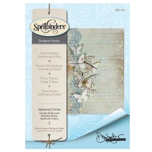 SEL-011/Spellbinders/スペルバインダーズ/エンボスフォルダ/Embossing Folders Donna Salazar Designs Splattered Circles スプラッターサークル しぶき模様
