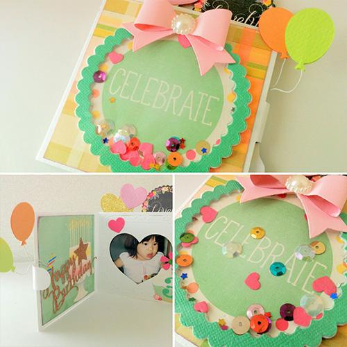 224/WonderHouse/ワンダーハウス/ダイ(抜型)/カード HAPPY BIRTHDAY I LOVE YOU