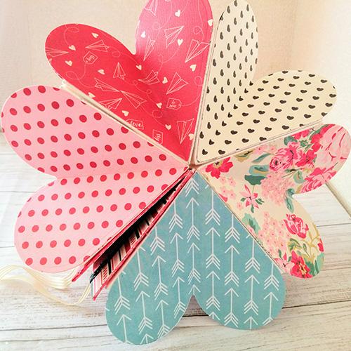 大北美鈴先生「ダイカットマシンで作るバレンタインハートブック&チョコレートBOX」2/08開催分スクラップブッキング教室