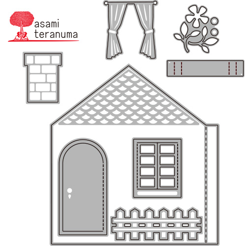 340/WonderHouse/ワンダーハウス/ダイ(抜型)/家 House セット 寺沼麻美