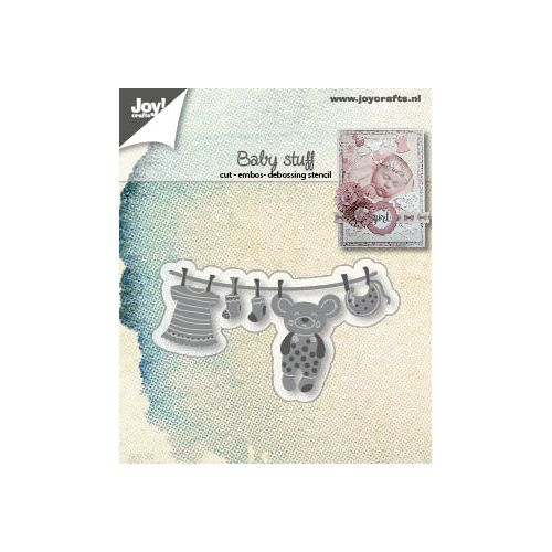 【6002-1409】/ジョイ・クラフツ/ダイ(抜型)/Baby washingline ベビー物洗濯