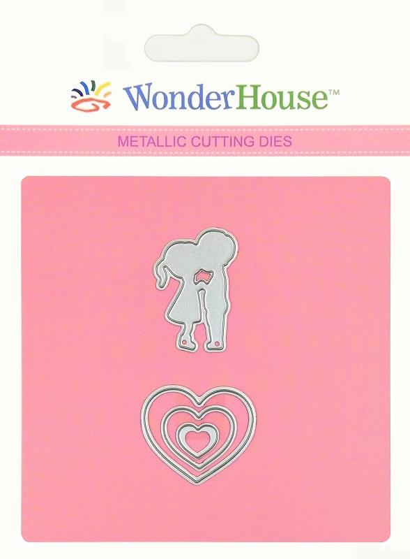 346/WonderHouse/ワンダーハウス/ダイ(抜型)/男の子 女の子 heart kiss