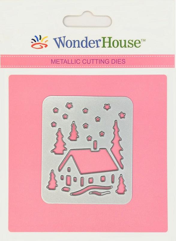 294/WonderHouse/ワンダーハウス/ダイ(抜型)/Snow Home Christmas 雪 家 クリスマス ランタン