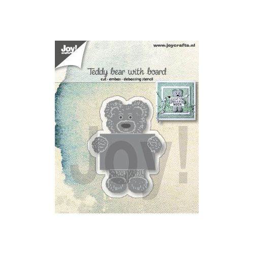 【6002-1308】/ジョイ・クラフツ/ダイ(抜型)/Teddy bear with board  テディベア 熊 くま