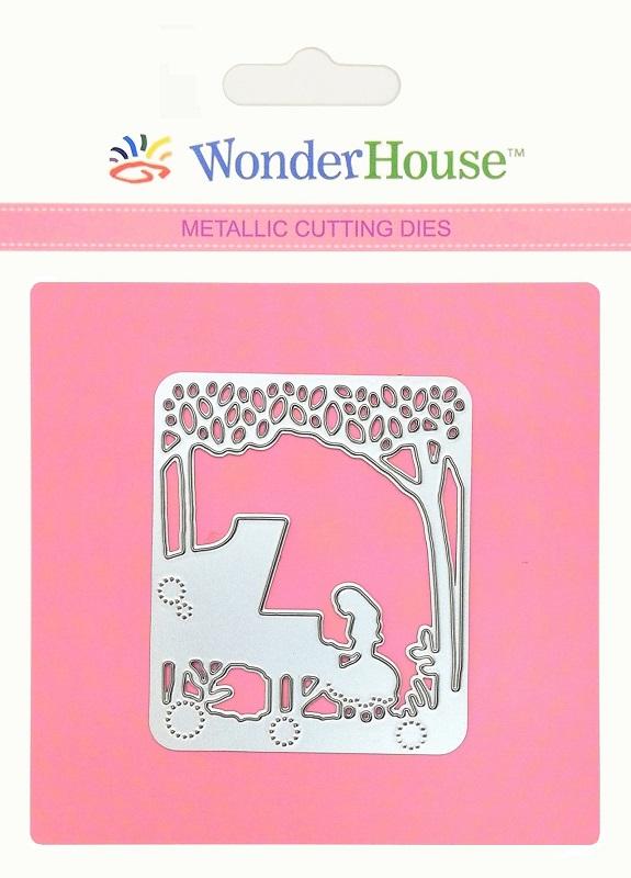 350/WonderHouse/ワンダーハウス/ダイ(抜型)/少女 ピアノ 森 ランタン