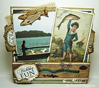 6002-0335/Joy! Crafts/ジョイ・クラフツ/ダイ(抜型)/Fisher in boat 釣り