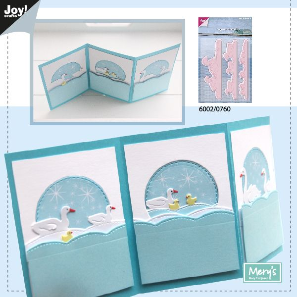 6002-0760/Joy! Crafts/ジョイ・クラフツ/ダイ(抜型)/No end border Ducks 3 pc あひる 白鳥 ボーダー