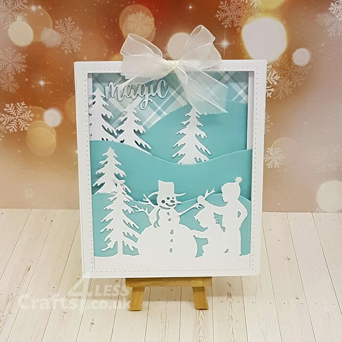【S4-821】/スペルバインダーズ/ダイ(抜型)/  雪だるま作る 子供 松