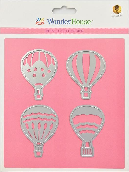 W04-019/WonderHouse/ワンダーハウス/ダイ(抜型)/気球 4枚セット