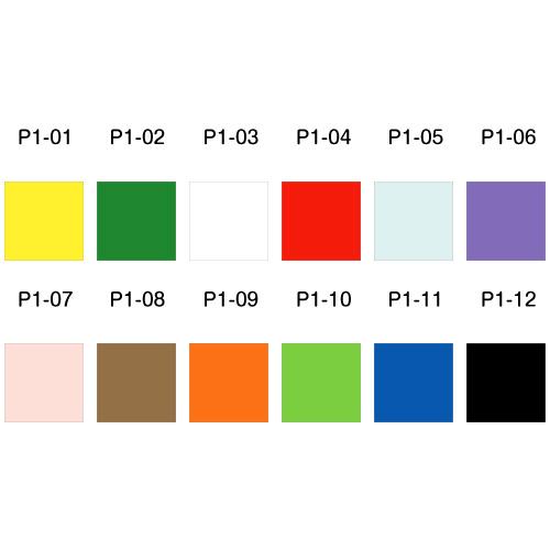 P1-02/WonderHouse/ワンダーハウス/シール付きクラフト紙 グリーン 短冊 10枚セット 47mmx142mm