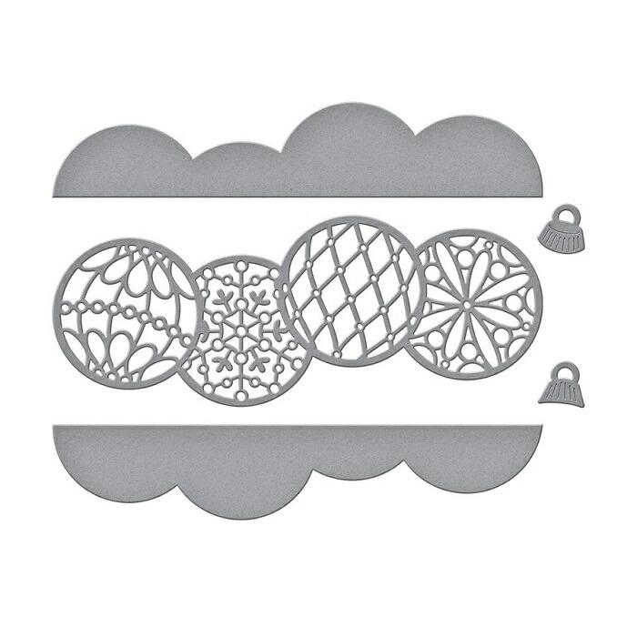 【S4-1068】/スペルバインダーズ/ダイ(抜型)/ クリスマス 飾りボウル