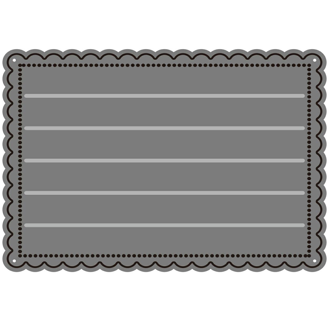 【403】/ワンダーハウス/ダイ(抜き型)/メッセージカード 寄せ書き 長方形 スカラップ