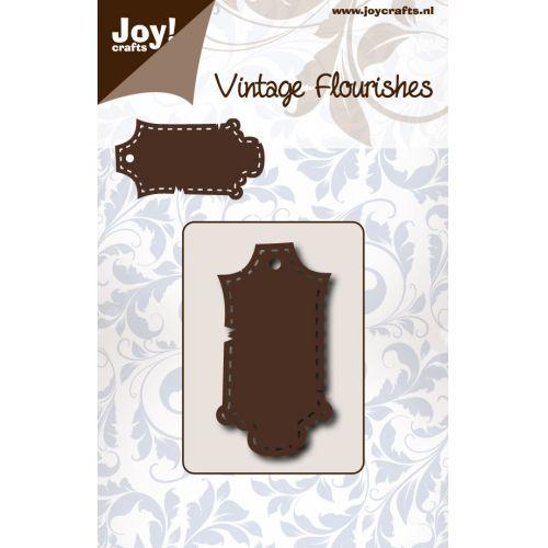 6003-0079/Joy! Crafts/ジョイ・クラフツ/ダイ(抜型)/Vintage Flourishes Label stitched ラベル ステッチ