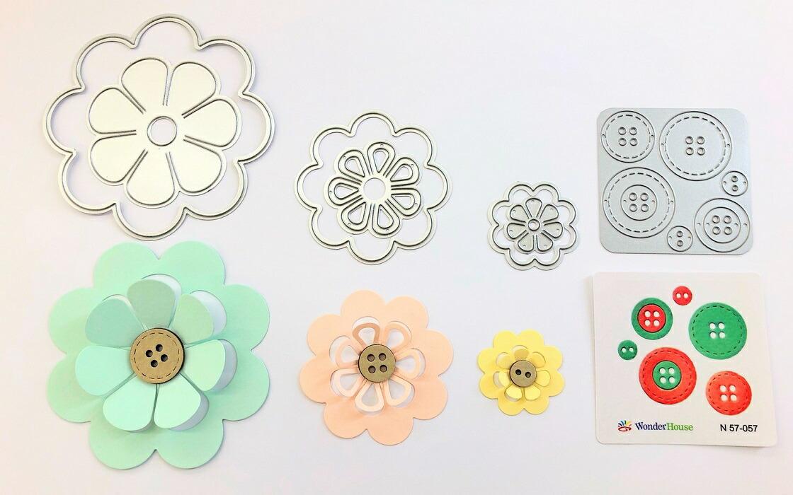 【407】/ワンダーハウス/ダイ(抜型)/花 フラワー はな 6枚入り