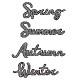 【410】/ワンダーハウス/ダイ(抜型)/春夏秋冬 四季 Four seasons    spring  summer autumn  winter テキスト 筆記体 タイトル