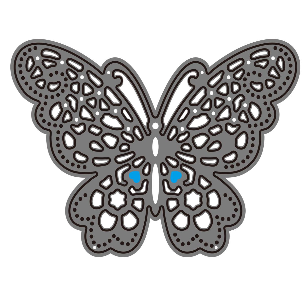 【418】/ワンダーハウス/ダイ(抜型)/蝶々 蝶 ちょうちょう