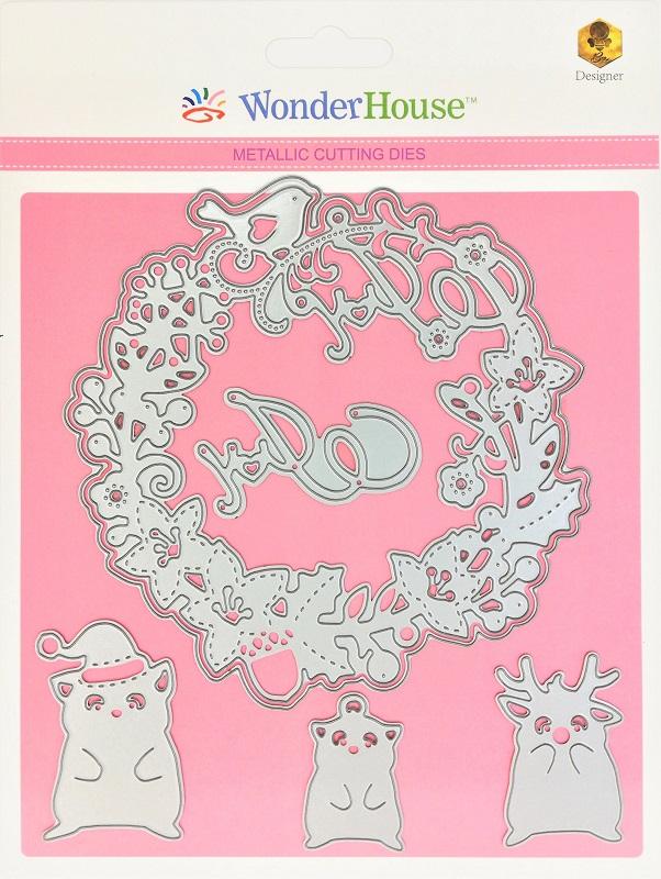 272/WonderHouse/ワンダーハウス/ダイ(抜型)/クリスマス リース トナカイ