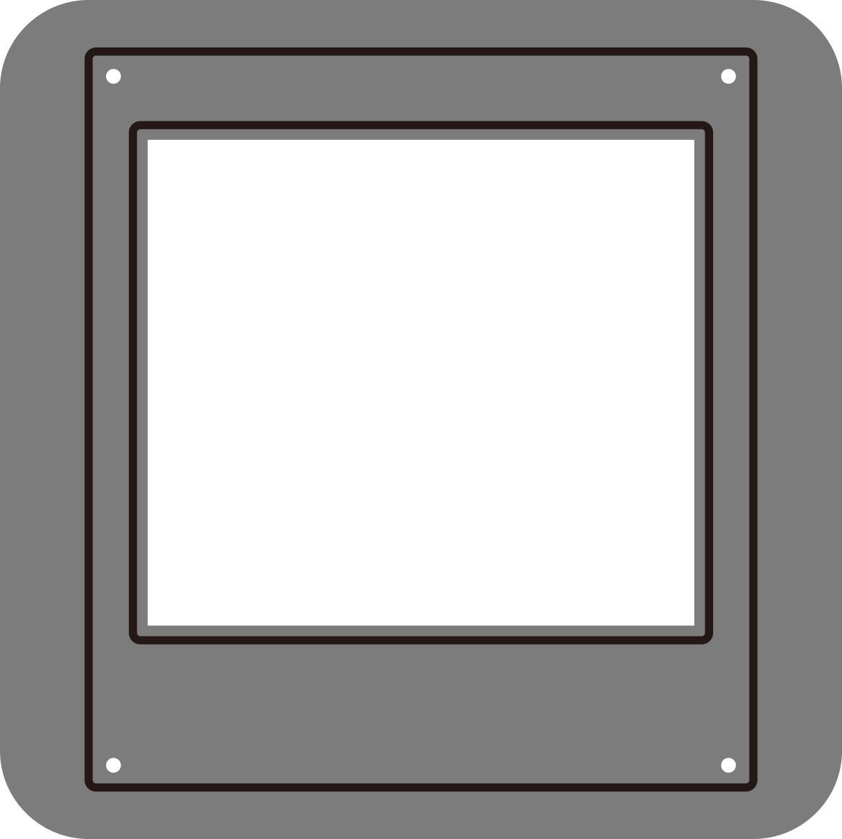 【N57-121】/ワンダーハウス/ダイ(抜型)/ チェキ 写真 ポラロイド フレーム