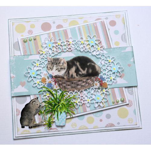 6002-1127/Joy! Crafts/ジョイ・クラフツ/ダイ(抜型)/playing cat with plant猫と植木