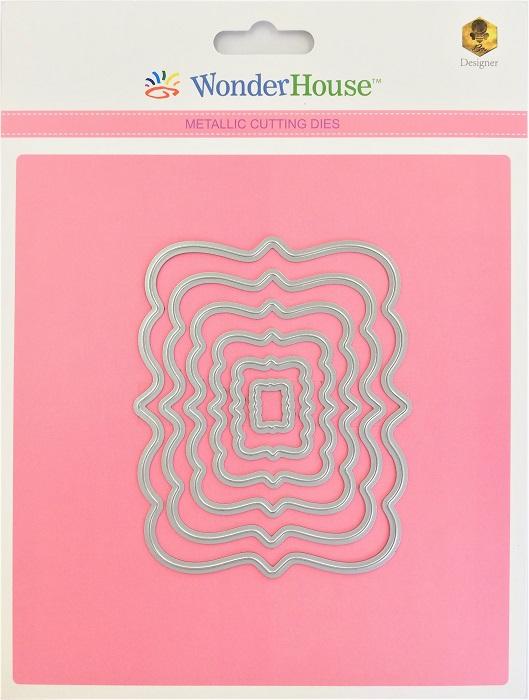 W08-018/WonderHouse/ワンダーハウス/ダイ(抜型)/ネスティング 長方形 レクタングル レイヤー ラベル