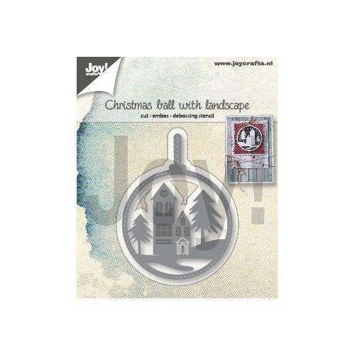 【6002-1347】/ジョイ・クラフツ/ダイ(抜型)/Christmas ball with landscape クリスマスボール くりすますぼうる