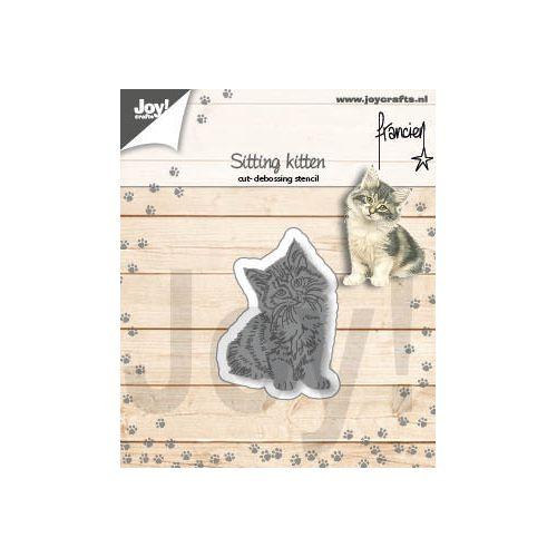 【6002-1357】/ジョイ・クラフツ/ダイ(抜型)/Sitting kitten  こねこ 子猫 コネコ