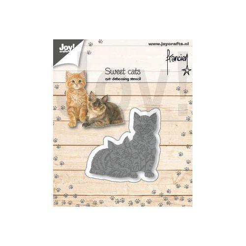 【6002-1359】/ジョイ・クラフツ/ダイ(抜型)/Two cats ねこにひき 猫二匹 ネコニヒキ