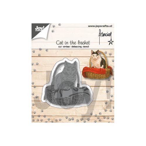 【6002-1360】/ジョイ・クラフツ/ダイ(抜型)/Cat in the basket ねことバスケット 猫とバスケット ネコトバスケット