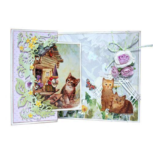 【6002-1362】/ジョイ・クラフツ/ダイ(抜型)/Two kittens こねこにひき 子猫二匹 コネコニヒキ