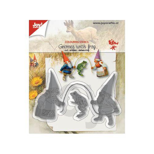 【6002-1368】/ジョイ・クラフツ/ダイ(抜型)/ Gnome with frog かえるとこびとたち 蛙と小人たち カエルトコビトタチ