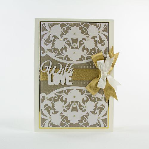 1519E/Tonic Studios/トニック・スタジオ/ダイ(抜型)/Marbled Mosaic Idyllics Die & Embossing Folder Set マーブル モザイク 格子模様 エンボスフォルダーセット