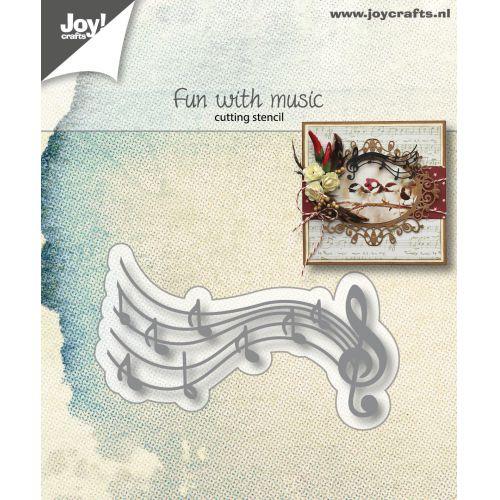 6002-1167/Joy! Crafts/ジョイ・クラフツ/ダイ(抜型)/fun with music 楽しいミュージック音楽 音符