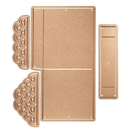 S5-233/Spellbinders/スペルバインダーズ/ダイ(抜型)/Shapeabilities Heart & Home Scalloped Pop Up Box Etched Dies ハート アンド ホーム スカラップ ポップアップボックス