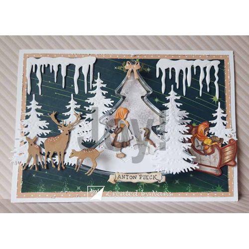 【6002-1376】/ジョイ・クラフツ/ダイ(抜型)/Girl in sled  そりとおんなのこ 橇と女の子 ソリトオンナノコ