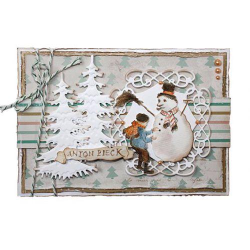 【6002-1382】/ジョイ・クラフツ/ダイ(抜型)/Boy with snowman 雪だるまと男の子