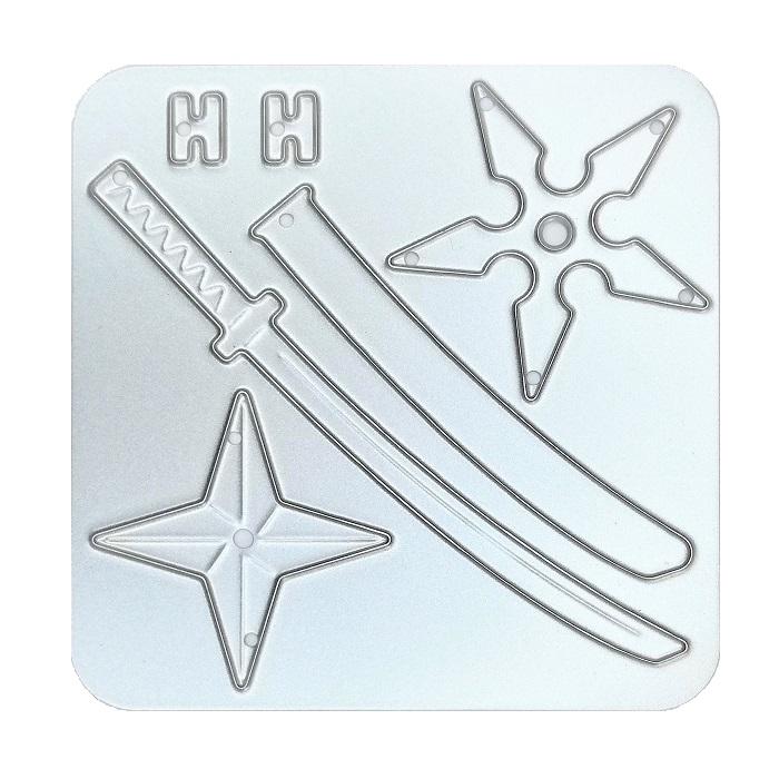 【N57-120】/ワンダーハウス/ダイ(抜型)/ 日本刀  手裏剣  にほんと しゅりけん