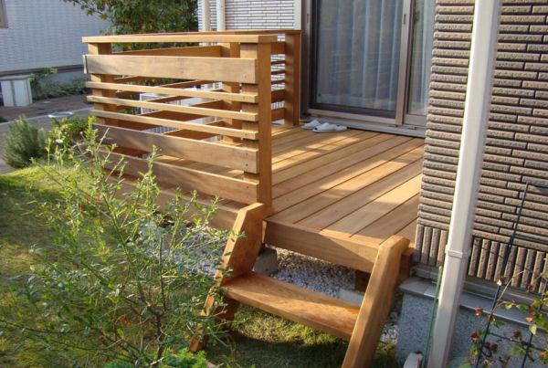 【 1M 】 横板6枚セット ウリン材利用のキットデッキ専用手すり 日本製
