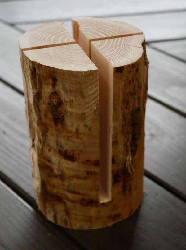 スウェーデントーチ4本1セット着火剤付 天然木 丸太 自然木 キャンプ用