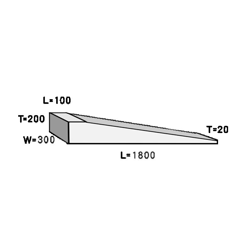 不陸調整型キャンバー 100/1.8M×300mm×20/200mm 材質ラジアタパイン等