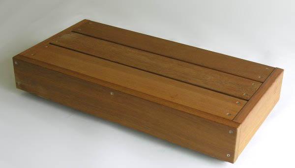 【ウッドデッキ用】 ウリン1段ステップ 間口800×奥行363×高さ135mm
