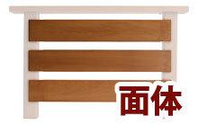 手すり面体ボーダー(1セット3枚入り)【材質レッドシダー 日本製】ウッドデッキ用手すり部材