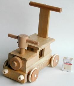 【木製玩具】【木の乗り物】 森の汽車ポッポ