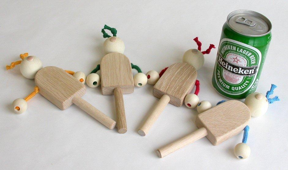 【木製玩具】【木のでんでん太鼓】 イヤイヤ